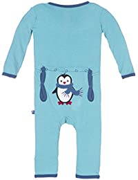 Holiday Applique Coverall Glacier Penguin