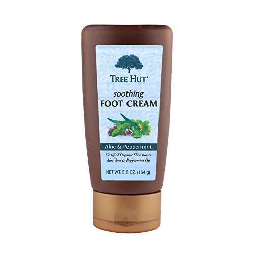 Peppermint Lotion Foot (Tree Hut Soothing Foot Cream, Aloe and Peppermint, 5.8-Ounce)