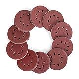 WORKPRO 150-piece Sandpaper Set – 5 Inch 8 Holes Sanding Discs 10 Different Grades Including 60, 80, 100, 120, 150, 180, 240, 320, 400, 600 Grits for Random Orbital Sander