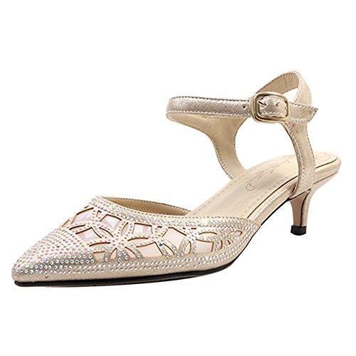 Gold Mujer Sandalias Elegante Coolcept 86 Con Puntiagudo Tacones AzfYnU