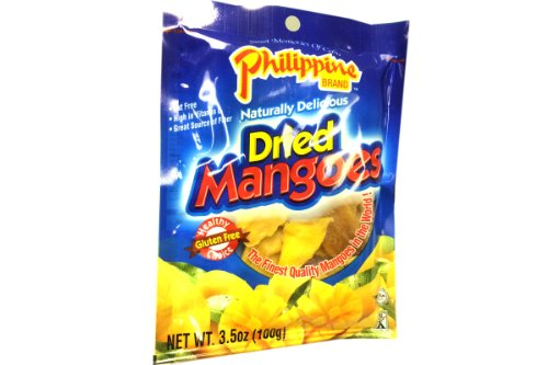 Dried Mangoes 3.5oz (Pack of 6) by Philippine