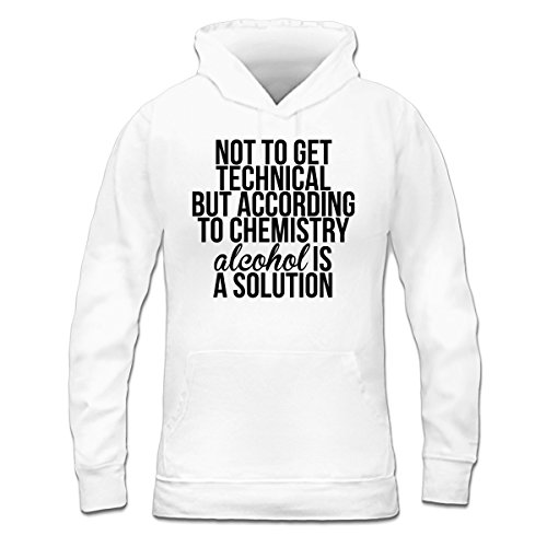 Sudadera con capucha de mujer According To Chemistry Alcohol Is A Solution by Shirtcity Blanco