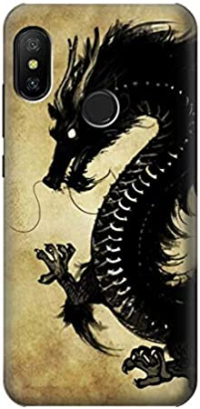 Innovedesire Black Dragon Painting Funda Carcasa Case para Xiaomi Mi A2 Lite (Redmi 6 Pro)