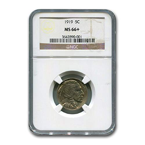 1919 Buffalo Nickel MS-66+ NGC Nickel MS-66 NGC