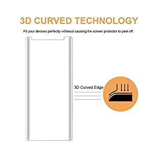 Tempered Glass Screen Protector Film Compatible with Samsung Galaxy S9 from Cafetec