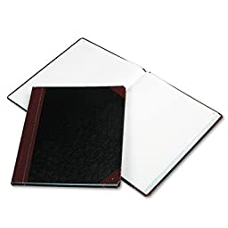 Columnar Book, Black Cover, 150 Pages, 12 1/4 x 10 1/8, Sold as 1 Each
