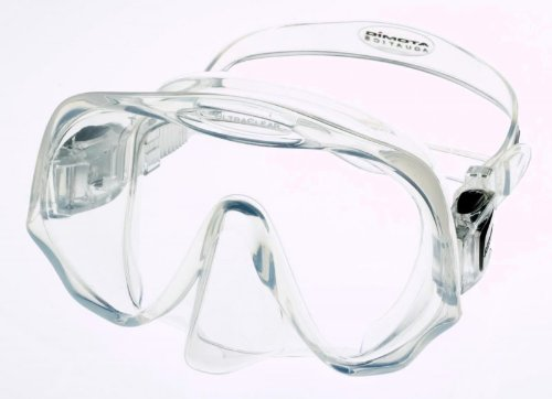 Atomic Aquatics Frameless Mask for Scuba Diving and Snorkeling, Clear, Medium Fit - Medium Fit Mask
