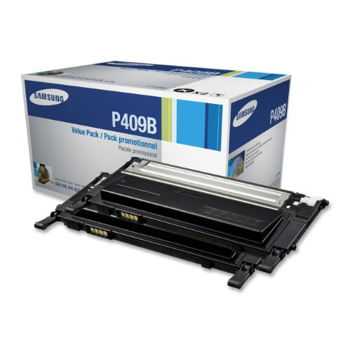 Samsung CLT-P409B Value Pack Black Toner x 2 for CLP-315, CLP-315W, CLX-3175FN, CLX-3175FW by HP