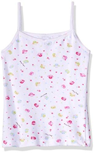 Baby Creysi 00465 GRF Camiseta de Tirantes para Niñas, Blanco con estampado, 10 Años