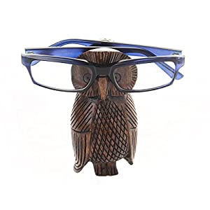 Thanksgiving Gifts Wooden Eyeglass Spectacle Holder Display Stand Home Decorative (Brown 5)