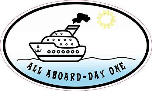 StickerTalk 5in x 3in Oval All Aboard - Day One Sticker