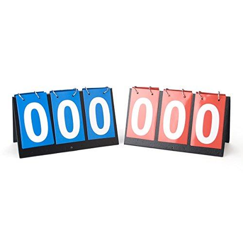 GOGO 2 Pieces 3-digital Portable Desktop Scoreboards, 1 Blue 1 Red