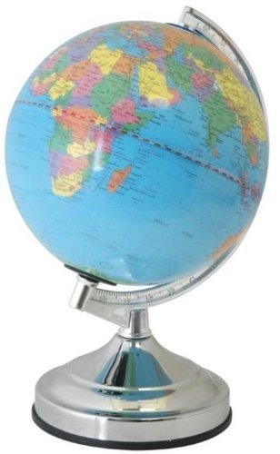 Awesome World Globe Touch Table Lamp World Globe Educational Globe Polished Chrome  By Supersalestore