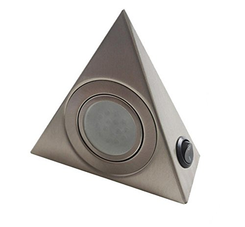 DGS 3W Mingzhuang Triangle Cabinet Button Switch Lights Wine Cabinet Bar Counter Led Spotlights Bottom Lamp