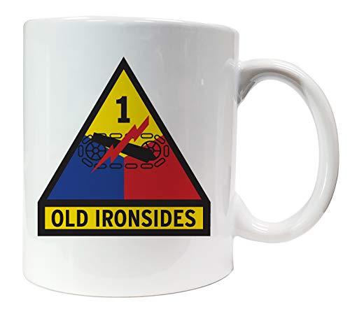 Dope Waffles 1st Armored Division Insignia US Army Unit Ceramic Mug