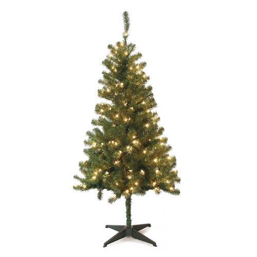 Jeco 5 Feet Wood Trail Pine Pre Lit Artificial Christmas Tree (Foot Real Christmas 5 Tree)