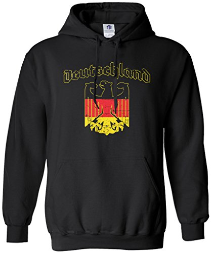 Threadrock Deutschland Eagle Emblem Unisex Hoodie Sweatshirt XL Black