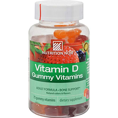 Nutrition Now Vitamin D Adult Gummy Vitamins 2000 IU - 75 Gummies ()