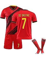 Voetbalshirt 2021 België thuis en uit 10# 7# De Bruyne voetbalshirt pak Zacht Ademend Trainingspakken Met Sokken