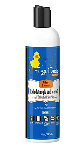 8oz, FuzzyDuck Detangle & Leave-in Conditioner for Fine, Thick, Wavy, Curly & Kinky-Coily Natural hair, Anti Frizz Curl Moisturizer, Definer & Lightweight Curl Enhancer w/ Aloe, great for Dry Hair.