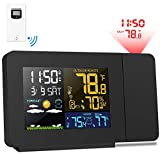 Best Projection Clocks - Kalawen Weather Station Color Projection Alarm Clock Multifunctional Review