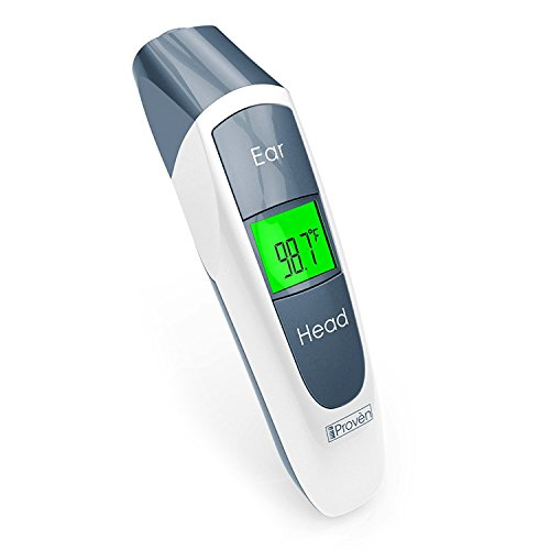 Clinical Ear Thermometer with Forehead Function - Upgraded Medical Quality with Improved Algorithm - Unmatchable Accuracy - iProvèn DMT-316 Digital Thermometer