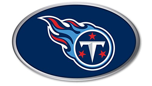 (Tennessee Titans PV Raised Metal OVAL Color Chrome Auto Emblem Decal Football)