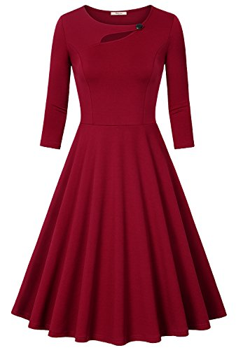 Fall Dresses for Women,Bebonnie Scoop Neck Long sleeve