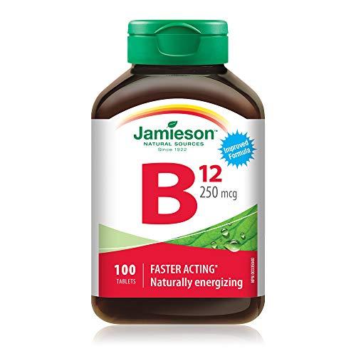 Jamieson Vitamin B12 (Methcycobalamin)250mcg, 100 tablets