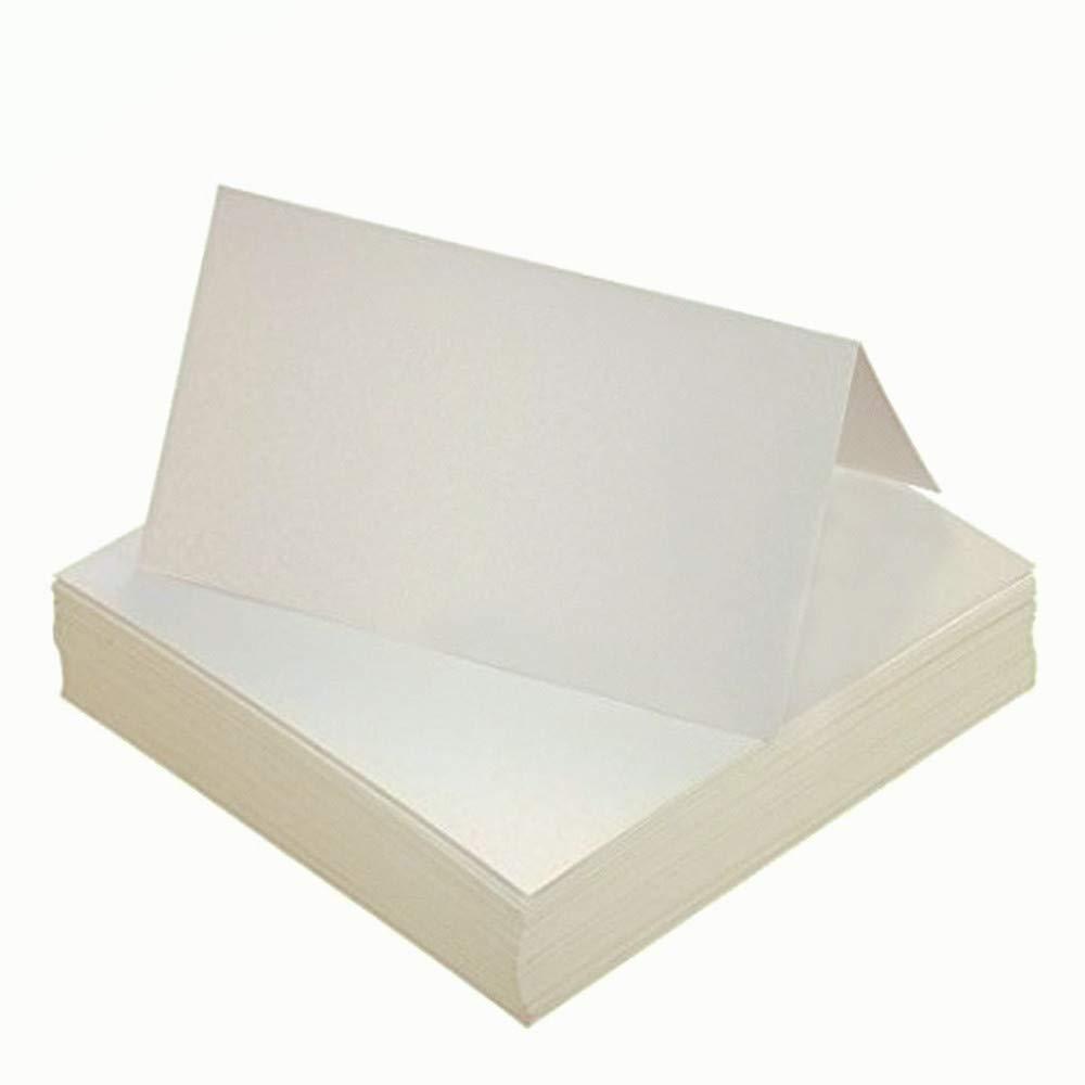 Cartes de Place,Cartes de Noms de Table 100 pièces Perle Blanche Carte Porte Nom pour Décoration de Fête de Mariage 10 * 10cm byou