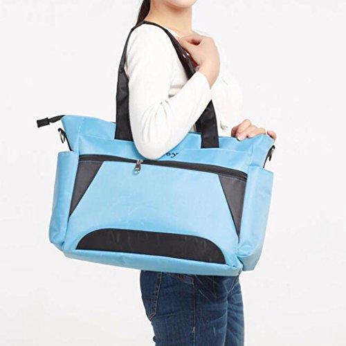 CN Multifunktionale Mode Mamabeutel Diagonal Umhängetasche Mobile Mutter Tasche,Yellow Blue