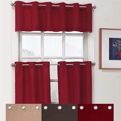Essence Grommet Kitchen Curtains