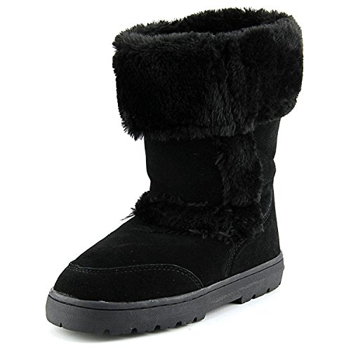 (Style & Co. Womens Witty Leather Closed Toe Mid-Calf Cold Weather Snow Boot Black Size 8 M US.)