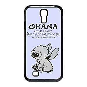 Fashion Lilo and Stitch OHANA Ultra Slim Fit Hard Case Cover for Samsung Galaxy S4