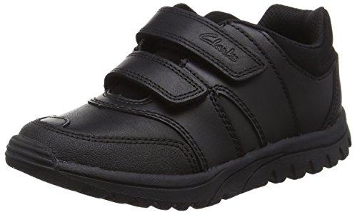 Clarks JackSpring Inf, Jungen Sneakers, Schwarz (Black Leather), 29 EU (11 Kinder UK)