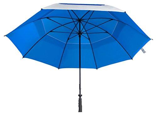 Sun Tek 68'' UV Protection Wind Cheater Vented Canopy Silver/Blue Umbrella by Suntek (Image #5)