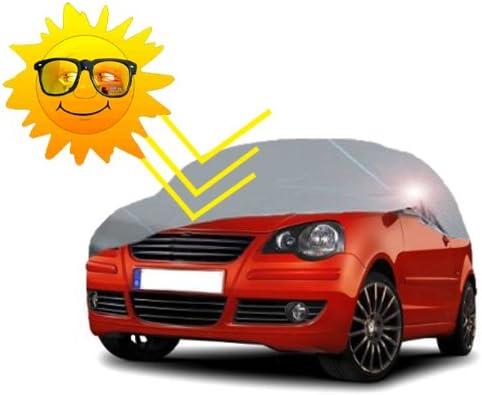 Vollgarage Abdeckplane Mit Uv Schutz Für Kleinwagen Größe S In Grau Geeignet Für Mini Clio C3 Fiesta Lupo Polo Corsa Uvm Auto