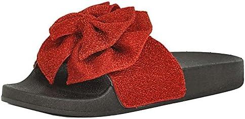 82c7ec5e2ed1c Refresh Footwear Women's Glitter Bow Slip On Slide Sandal (8 B(M) US ...