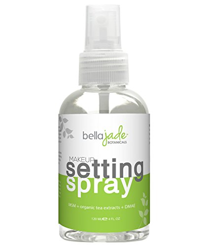 (Makeup Setting Spray with Organic Green Tea, MSM and DMAE - A Must for Your Natural Anti Aging Skincare Routine - large 4 ounce bottle)