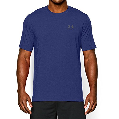 Steel Stretch Shirt (Under Armour Men's Charged Cotton Sportstyle T-Shirt, Royal/Steel, Large)