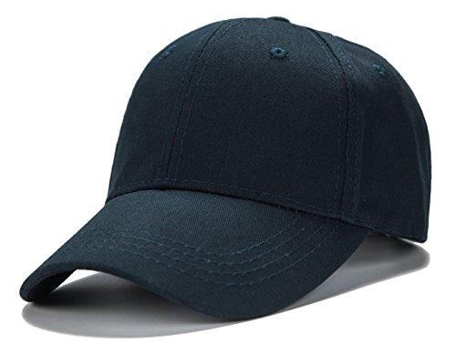 (Edoneery Unisex Kids Plain Cotton Adjustable Low Profile Baseball Cap Hat(Navy))