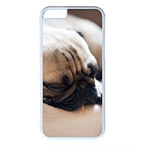 Hard Back Cover Case for iphone 6 Plus,Cool Fashion Art White PC Shell Skin for iphone 6 Plus with Cute Dog