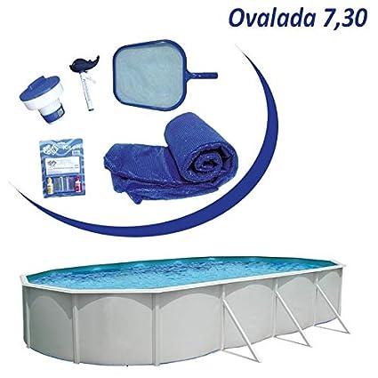 Piscina desmontable acero Mallorca ovalada de 7,3x3,66m (Kit completo): Amazon.es: Juguetes y juegos