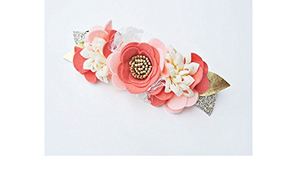 Rainbow felt flowers baby headband vanaguelite. Floral Headband Flower Crown hair accessories first birthday