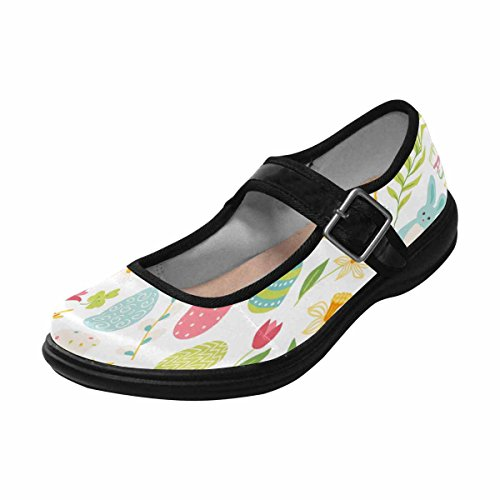 Interestprint Womens Comfort Mary Jane Flats Casual Walking Shoes Multi 12