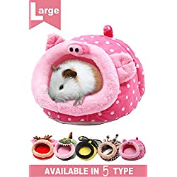 JanYoo Animal Bed Guinea Pig Accessories Cage Habitat Toy Hideout House Washable for Christmas