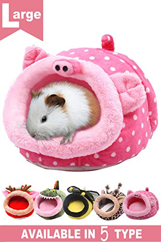 JanYoo Animal Bed Guinea Pig Accessories Cage Habitat Toy Hideout House Washable -