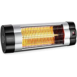 SURJUNY Infrared Heater, Electric Wall-mounted Patio Heater, Indoor/Outdoor Infrared Heater, Waterproof IP34 Rated, W01