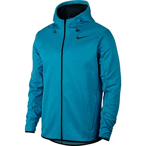 NIKE Therma Fit Hoodie Golf Jacket 2017 Blue Fury/Light Blue Lacquer/Black Large