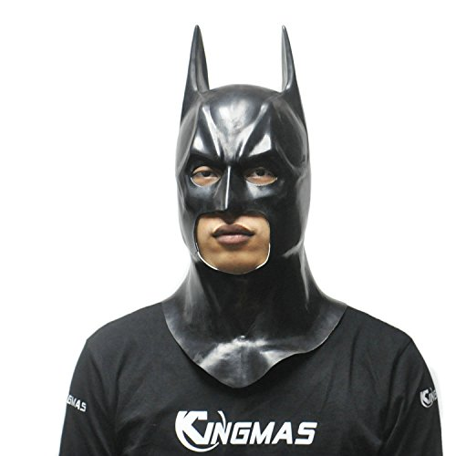 Funny Homemade Halloween Costumes For Guys (Shalleen Batman Masks Halloween Men's Party Mask Cosplay Movie Latex Toy Props)